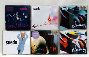 Job Lot SUEDE CD Singles Inc Animal Nitrate Trash Beautiful Ones Shes In Fashion