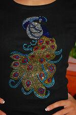 Peacock  Rhinestone Bling Shirt XS S M L XL XXL 1X 2X 3X 4X 5X