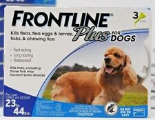 FRONTLINE PLUS for Dogs 23 - 44 lb - 3 Doses. USA