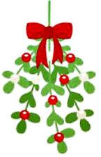 20 water slide nail decals Christmas mistletoe 3/8 ich Trending