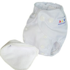 Alva Newborn boy baby White cloth diaper nappy with one insert less than 12lbs