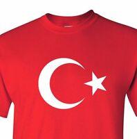 Turkey T shirt Turkish Flag National Team T-shirt Turkiye Moon Pride Tee Türkiye