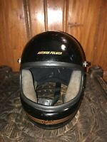 "Vintage Arthur Fulmer Falcon Motorcycle Helmet-Size L 7 1/2"" Rare!"