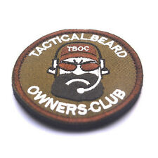 TACTICAL BLACK BEARD OWNERS CLUB OF 3D EMBROIDERED BADGE MILITARY PATCH