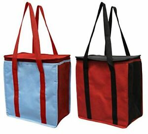 Earthwise Reusable Insulated Grocery Bags Heavy Duty Cooler Tote ( Pack of 2)