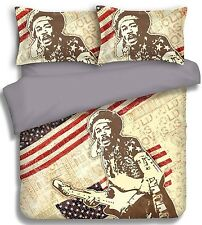 Jimi Hendrix  Quilt Cover Set   Guitar - American Musician   Queen   King