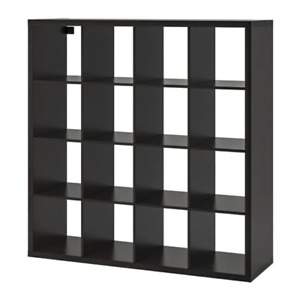 Ikea Kallax Shelf Unit Black-Brown 4 x 4 102.758.62