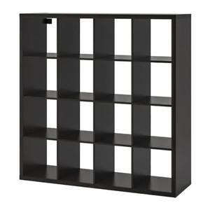 Ikea Kallax Shelf Unit Black-Brown 4 x 4 102.758.62