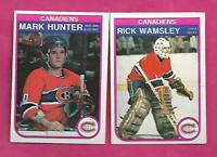 1982-83 OPC  CANADIENS RICK WAMSLEY RC + MARC HUNTER RC CARD (INV# C2290)