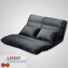 Double Sofa Bed Floor Lounge Adjustable Low Couch Pillows Foldable Portable