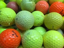 100 Hit-Away Shag Practice Range Colored Yellow Orange Golf Balls Free Shipping