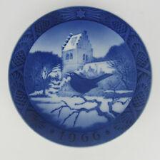 More details for 1966 royal copenhagen christmas plate, 'blackbird at christmas', one of several