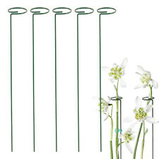 5 PCS  Plant Support Garden Metal Herbaceous Rings Stakes Frame Wire Grow