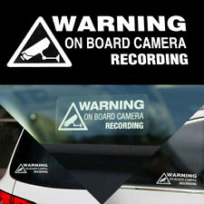 Warning On Board Camera Recording Car Sticker Window Auto Truck Decal Universal