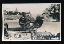 Hants Hampshire BROUGHTON used1938? M/view RP PPC