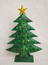 Weihnachtsbaum Tannenbaum Deko Baum mit Stern Windlicht Metall Shabby Geschenk A