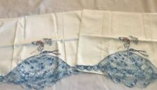 Pair Vintage Southern Belle Crochet Pillow Cases