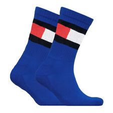 New TOMMY HILFIGER Men's Crew Sports Socks (2 PACK) Fits UK Shoe Size 2-5