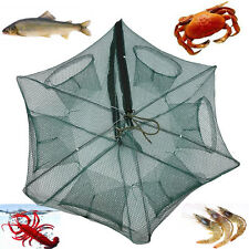 6 / 12 Holes Automatic Fishing Net Shrimp Cage Foldable Crab Fish Trap Cast DY
