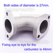 27mm Angled 30° Intake Manifold Pipe For 125cc 140cc 150cc Chinese Pit Dirt Bike