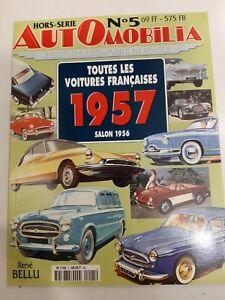 AUTOMOBILIA  HORS SERIE   N°5  -  TOUTES LES VOITURES FRANCAISES - 1957 -