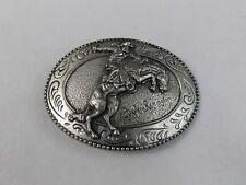 'The Bronco Buster' Frederic Remington Art Museum Western Cowboy Belt Buckle