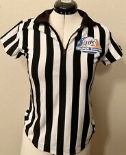 MILLER LITE REFEREE OFFICIAL STRIPED JERSEY SHIRT Perfect For Haloween Costume