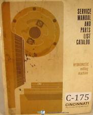Cincinnati Hydromatic, Plain and Duplex Milling, Service and Parts List Manual