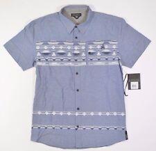 TLFI A ZONE  Mens Short Sleeve Button Up Shirt Size Large Blue Denim  NEW