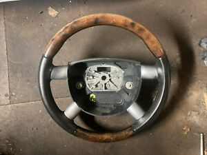 Ford mondeo mk3 leather / wood steering wheel black interior trim 2004 - 2007