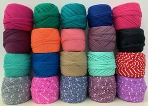 T Shirt Spaghetti Yarn Suitable Knitting Crochet Bags Crafts Choice of Colours
