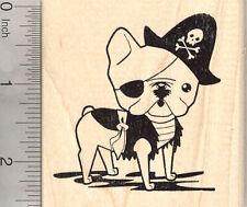 French Bulldog Pirate Rubber Stamp, Dog in Halloween Costume K25902 WM