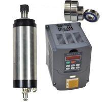 1.5KW ER11 4 Bearing Water-cooled Spindle Motor+Inverter VFD Drive CNC