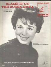Blame It On The Bossa Nova Cynthia Weil Barry Mann Sheet Music 1962