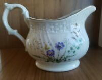 Mikasa Margaux Fine Ivory Creamer pitcher Japan floral violets VTG countrycore
