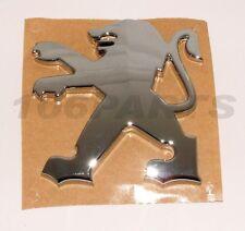NEW GENUINE PEUGEOT 207 CHROME SILVER LION BADGE 3D TYPE 70x70mm