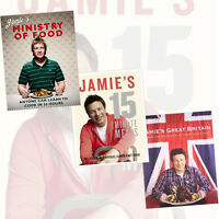 Jamie Olivers Cooking Collection 3 Books Jamie's Ministry of Food,Jamie's 15 min