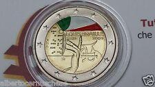 2 euro 2009 Louis Braille ITALIA italie italien italy colorato smaltato II tipo
