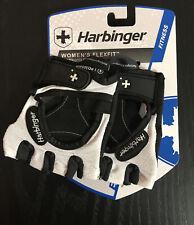 Harbinger 139 Women's FlexFit Strength Gloves - Black/White, Size Small