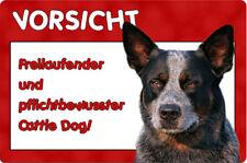 Australian CATTLE DOG - A4 Metall Warnschild Hundeschild Alu SCHILD - ACD 05 T6