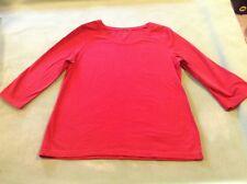 Madison Live Green Organics Red 3/4 sleeve T-shirt Womens Large Organic Cotton