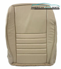 99-04 Ford Mustang GT V8 Coupe -Driver Bottom PERFORATED Leather Seat Cover TAN