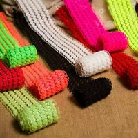 Elastic Lace Trims Woven Belt Band Ribbon Fabric Embellishment DIY Crafts 1 Yard