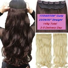 Real Thick Ombre Dip Dye Clip in Hair Extensions 1Piece Full Head New long lxz