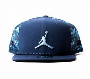 NIKE AIR JORDAN CLOUD CAMO TRUCKER SNAPBACK CAP 789505-410 Rare Mesh Hat NEW
