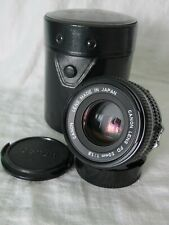 Canon FD  50mm f/1.8 Lens  Prime Manual Focus Lens w/ caps & Case