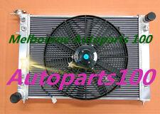 52mm 2 ROW ALLOY RADIATOR&Fans HOLDEN COMMODORE VN VG VP VR VS V6 3.8L Manual