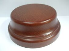 "ROUND POLISHED BEVELLED WOOD DISPLAY BASE 4"" DIAMETER FOR TROPHY OR FIGURINES"