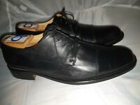 Bally Italy Black Calf Skin All leather Cap Toe Derby 10.5 M