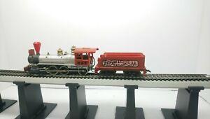 Tyco HO Train W&ARR 10 Wheeler Rogers Powered Steam Locomotive & Tender